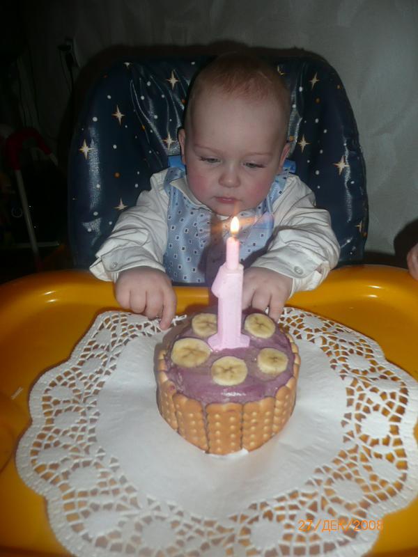 Тортик на 1 год своими руками 15