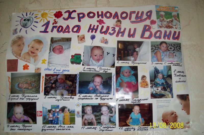 Плакат на день рождения своими руками 1 годик фото